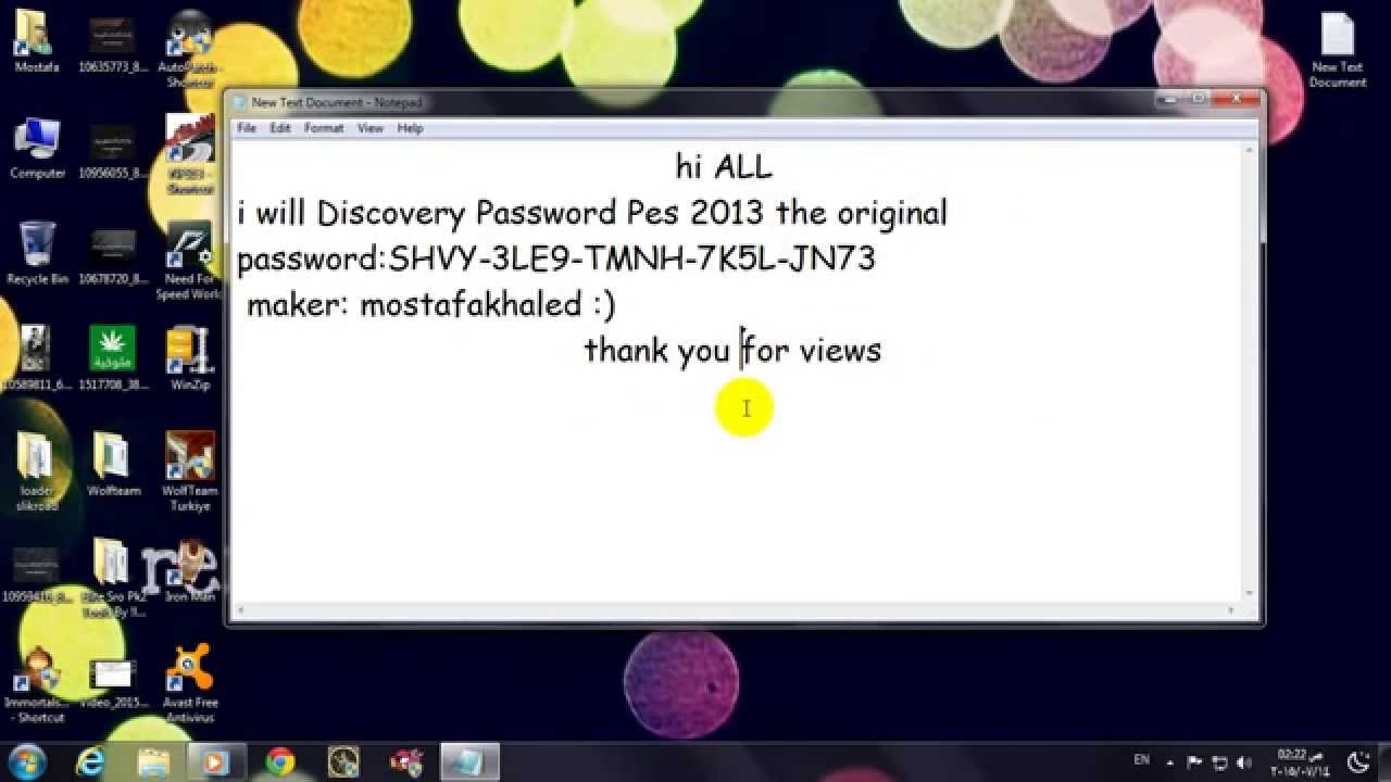 password file rar pes 2013