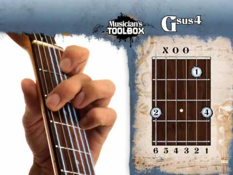 How to play the G sus 4 chord on guitar Gsus4 - YouTube