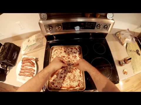 Making Bacon Pizza at Measuring Electrical Oven