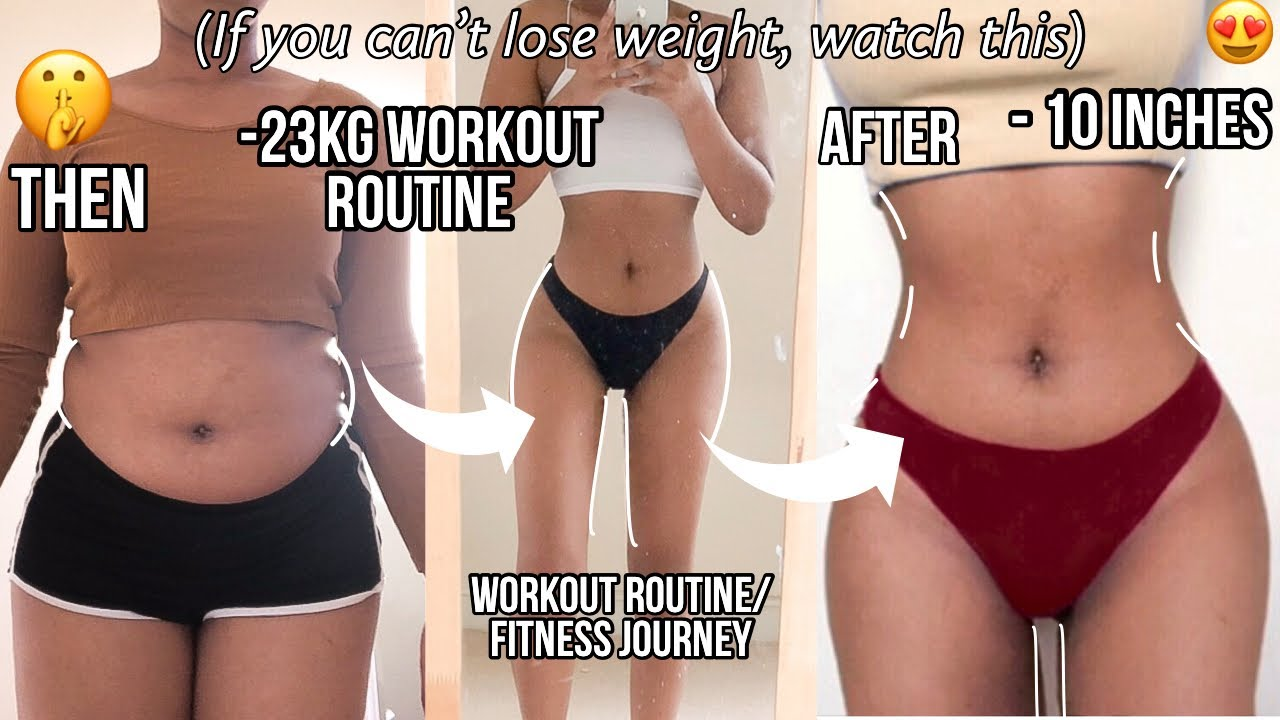 <div>My Workout routine to lose 56 pounds – A full week of working out *Before & After*</div>