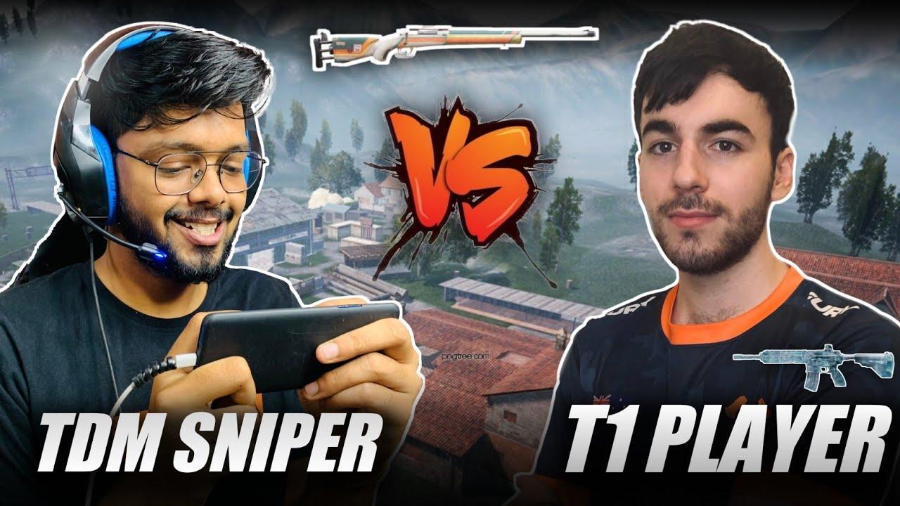 T1 Player VS TDM Sniper | M416 VS M24 | Best Sniper against AR 1v1 Match 🔥 | Android Gamer | BGMI
