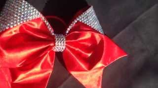 Red Lulu Cheer Bow by Cinderella Bows