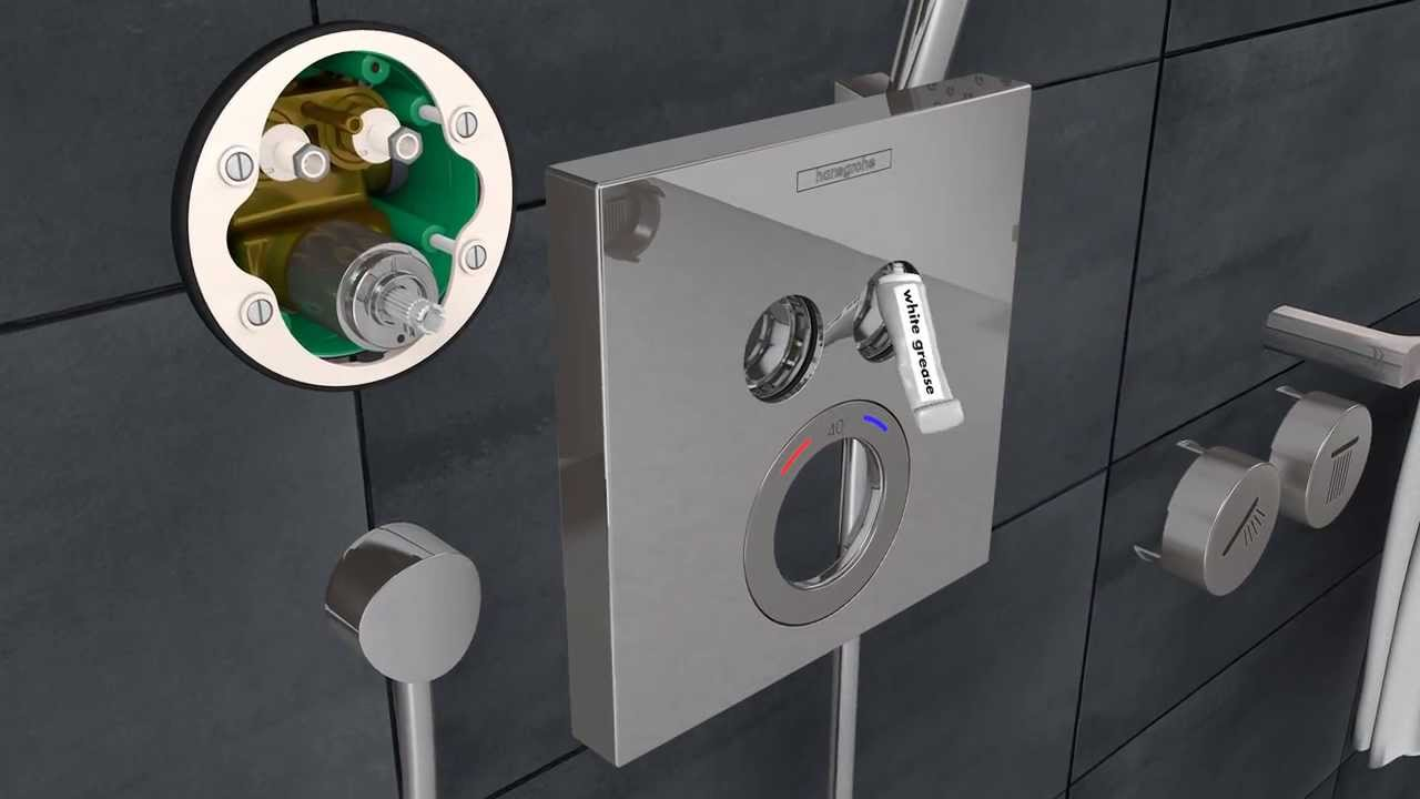 Hansgrohe ShowerSelect installation in a renovated bathroom - YouTube