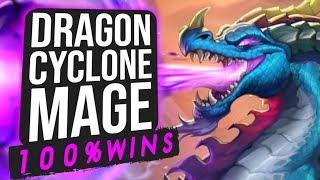 HUGE Winstreak w/ Dragon Cyclone Mage! | Standard | Hearthstone