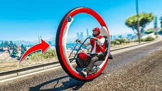 "CRAZY ""MONOWHEEL"" BIKE MOD! - (GTA 5 Mods)"