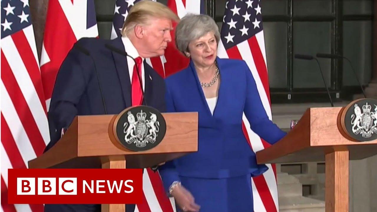 Trump v Trump on the NHS - BBC News