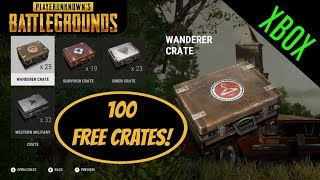 PUBG: 100 Free Crates! Crate Opening! Crate Review!