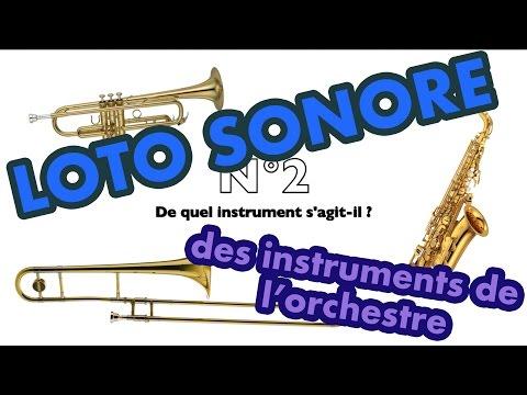 LOTO sonore, reconnaissance des timbres (sons) des instruments de musique