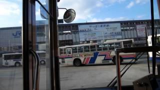 【前面展望】岡山大学病院(構内)~イオン岡山~岡山駅前(往復)【岡電バス】