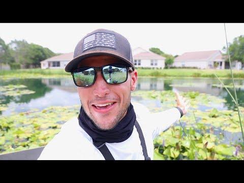 Fishing For Bass In The Lilly Pads!! (Lakeland, FL) | Jiggin' With Jordan