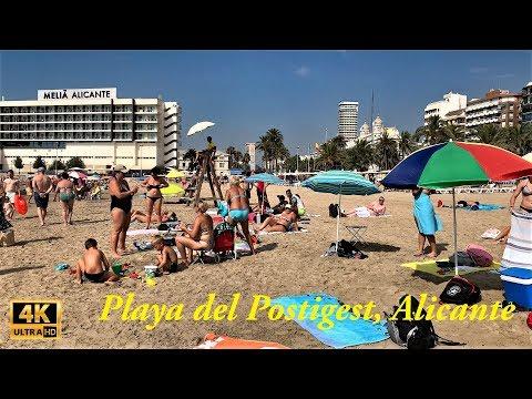 Walking Tour Playa Del Postigest, Alicante Beach, July 2019