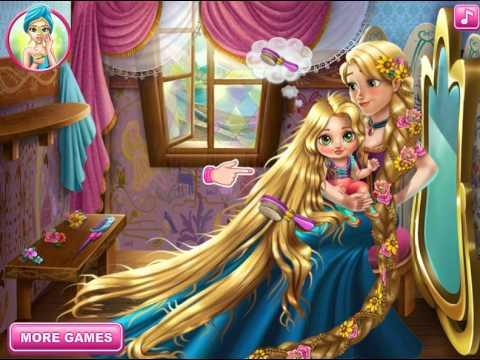 Малыш Рапунцель Прекрасная Дисней Принцесса Онлайн Игры Для Девочек Мультик 2015