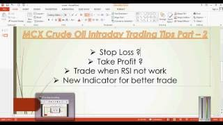 MCX Crude Oil Intraday Trading Startegy Part - 1 In Hindi