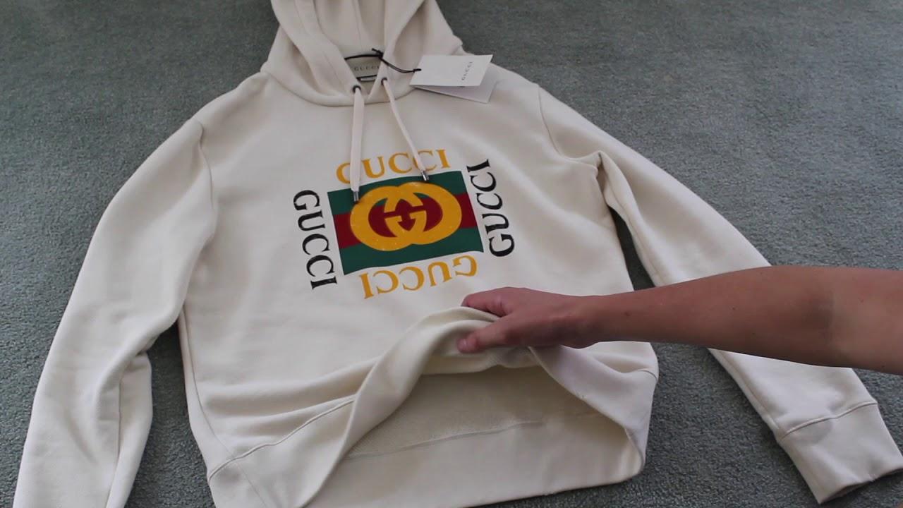 82689cfc80e Gucci Vintage Logo Hoodie Review Unboxing
