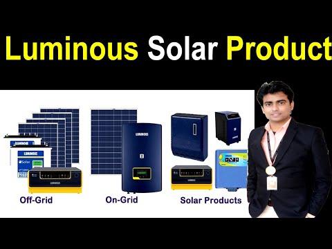 LUMINOUS Solar Products