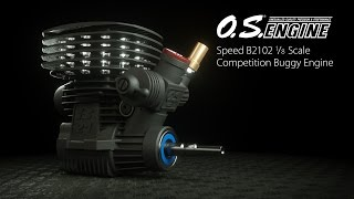 Load Video 2:  O.S. Speed B2102 1/8 Competition Buggy Engine: Spotlight