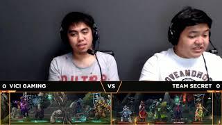 Team Secret vs Vici Gaming Game 1 | Breakout (Bo3) | Dota 2 Asia Championships 2018