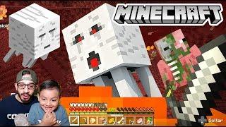 Primera Vez en el Nether de Minecraft | Encontramos Cofres con Diamante | Juegos Karim Juega