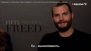 Jamie and Dakota during FSF Promo for Rakuten Tv Espana//rus sub//русские субтитры