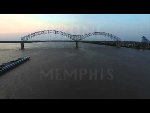 Memphis Arkansas bridge drone footage