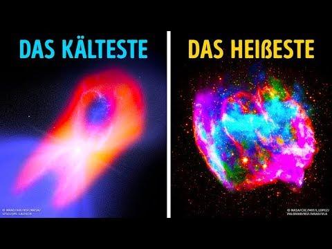 Was sind die heißesten und kältesten Dinge im Universum?