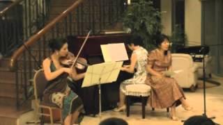 花は咲くを歌、バイオリン、ピアノでアレンジ。Sedona Evening Concert ...