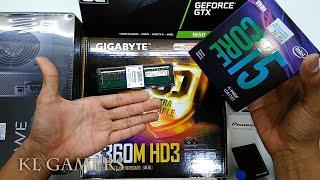 intel Core i5 9400F GIGABYTE B360M HD3 Pioneer SSD NVIDIA GTX 1650 Segotep EOS SG-K3 Gaming RIG 2019