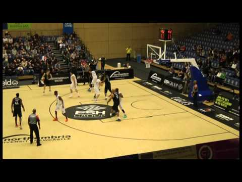 Jamal Williams (14 in WHITE) Worcester Wolves vs. Newcastle - Part 4