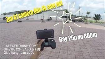 Flycam Visuo Zen K1 camera 4k bay 28p động cơ brushless siêu bá