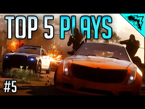 EPIC, FAIL, & BEST KILLS - Battlefield Hardline Top 5 Plays Bonus Ep #5