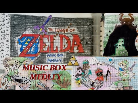 Legend of Zelda MUSIC BOX Medley (with stop motion)