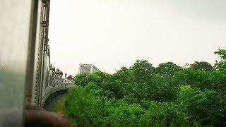 Bangladesh Train Running On Bridge Voirob Bridge