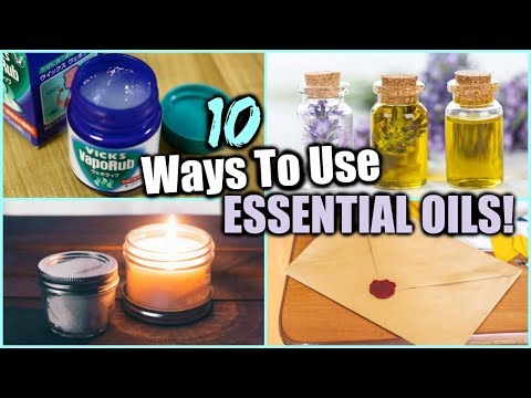 10 WAYS TO USE ESSENTIAL OILS │ESSENTIAL OIL HACKS FOR EVERYDAY │ DIY's USING ESSENTIAL OILS