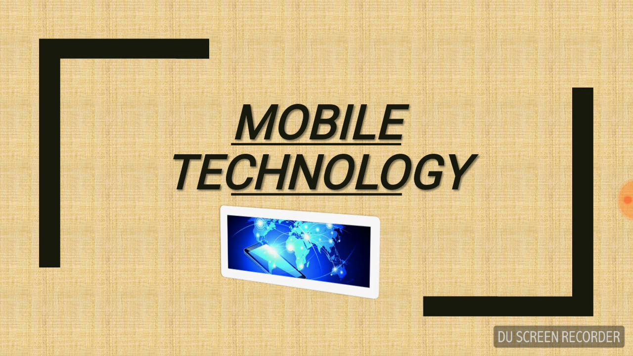 PPT slides for mobile technology