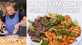 Molly Makes Coconut Grilled Chicken, Steak and Shrimp | From the Test Kitchen | Bon Appétit
