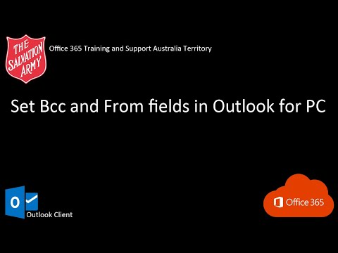 Set Bcc and From fields in Outlook for PC