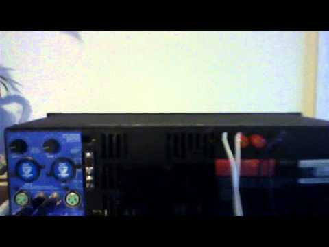 qsc 1400 stereo amplifier amp january 16 2012 11 02 am youtube. Black Bedroom Furniture Sets. Home Design Ideas