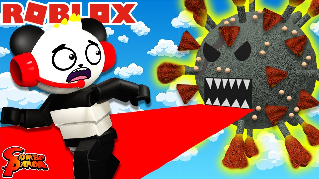 ESCAPE THE VIRUS OBBY in Roblox! Let's Play with Combo Panda