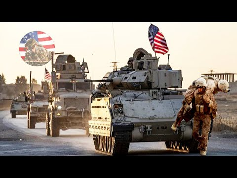 High Tension : The Convoy Of US Army Troops In Syri4 (us Defense)