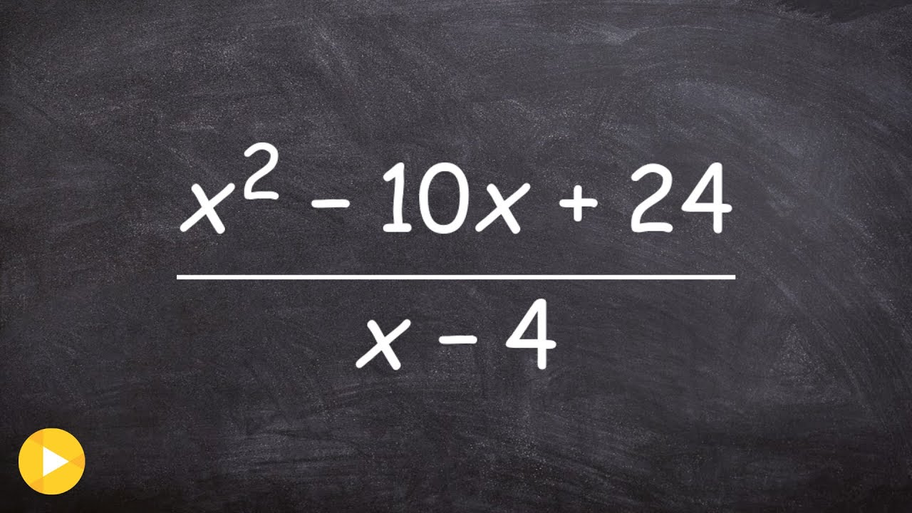 How To Divide A Binomial Polynomial Into A Quadratic Polynomial