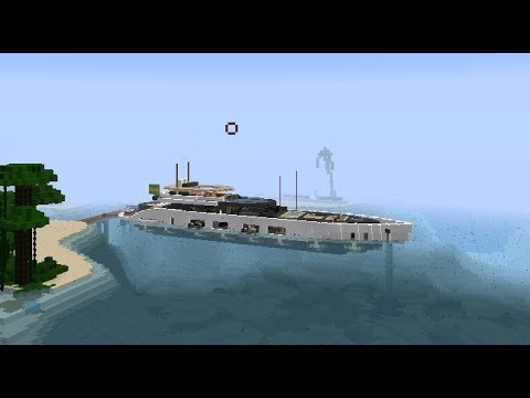 Minecraft modern luxury sport yacht tour tutorial how to build