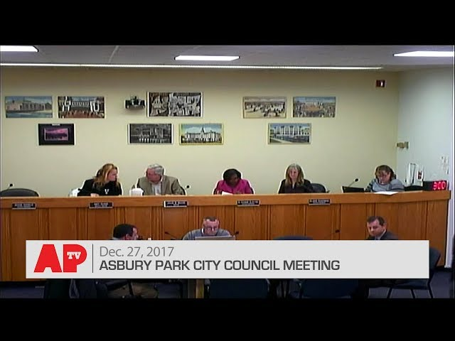 Asbury Park City Council Meeting Dec. 27, 2017