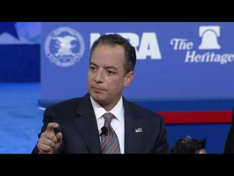 Bannon And Priebus All Smiles At CPAC