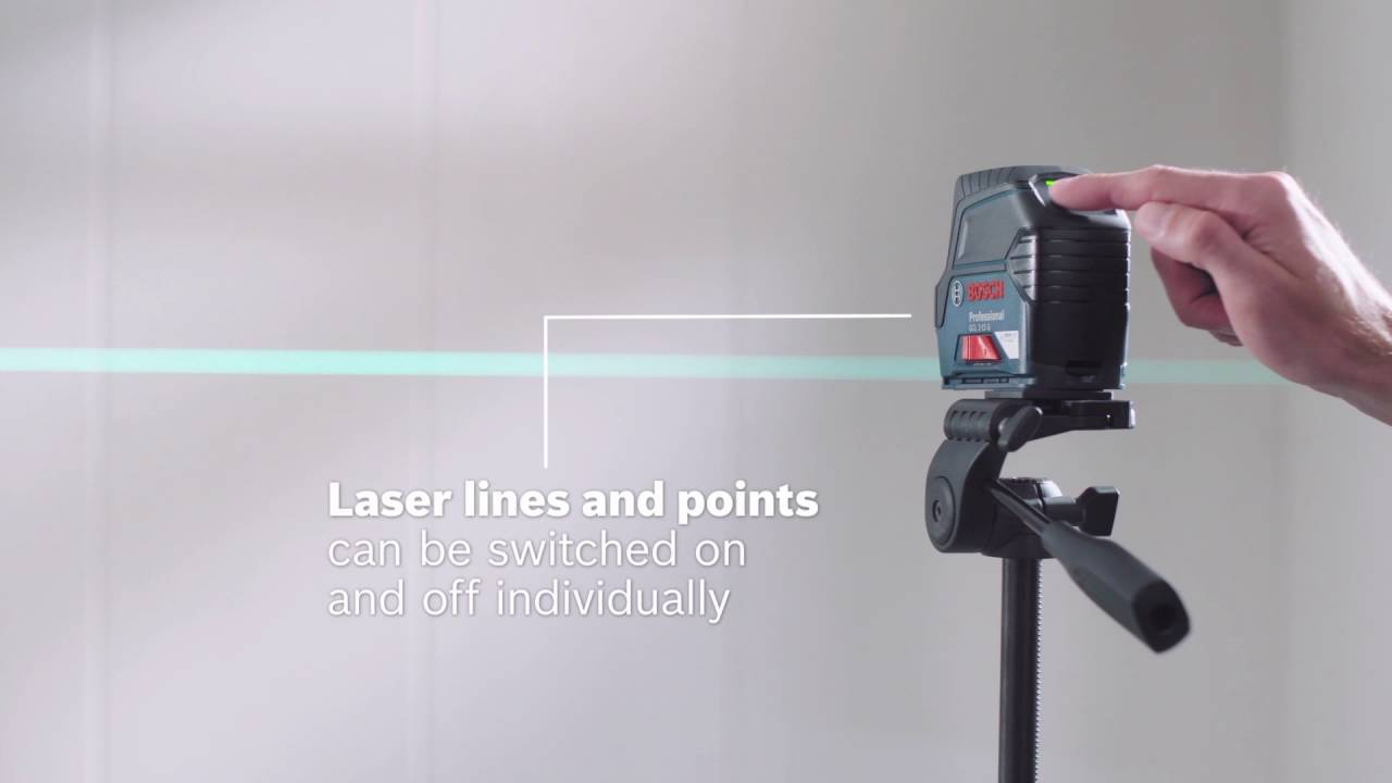 bosch combi laser gcl 2-15 g professional - youtube