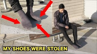 SOMEONE STOLE MY SHOES IN PUBLIC