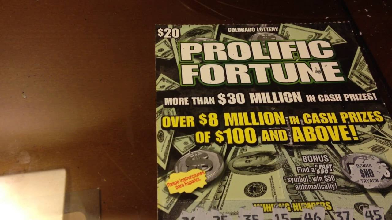 $20 Prolific Fortune Colorado Lottery Scratch Off Ticket