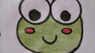 Dibuja una Ranita Kawai Fácil aprende a hacer Dibujos Kawai