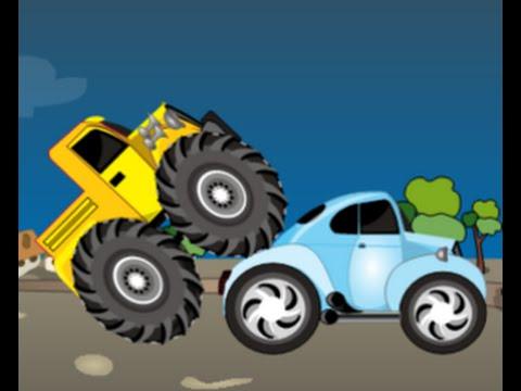 Camion Monster Truck Destructeur Dessin Animé Pour Les Enfants