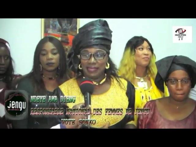 La coordination Nationale des Femmes de JENGU vote SONKO