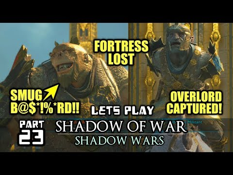 Shadow of War: Shadow Wars: FORTRESS DEFENCE FAILURE POST CAMPAIGN Ps4 Gameplay Shadow of War